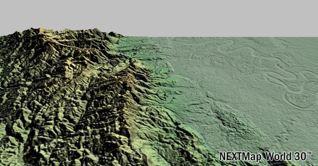 NEXTMap World Digital Surface Model Intermap - World dem data