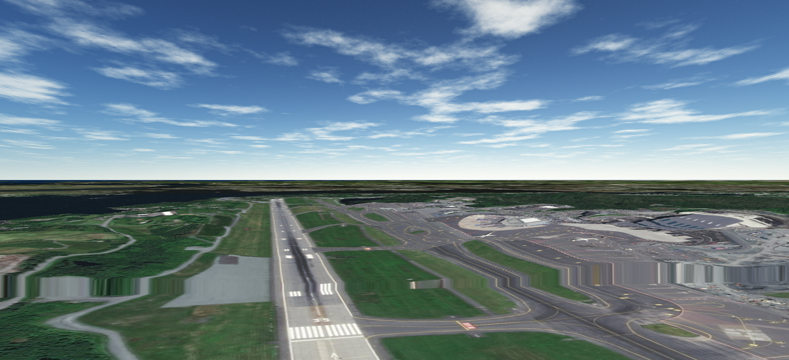 Bergen 3D Aster and Global Aviation Surface Data