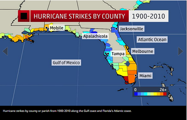 Weather Channel: Hurricane Strikes by County