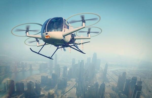 Flying Taxi iStock-1154770499