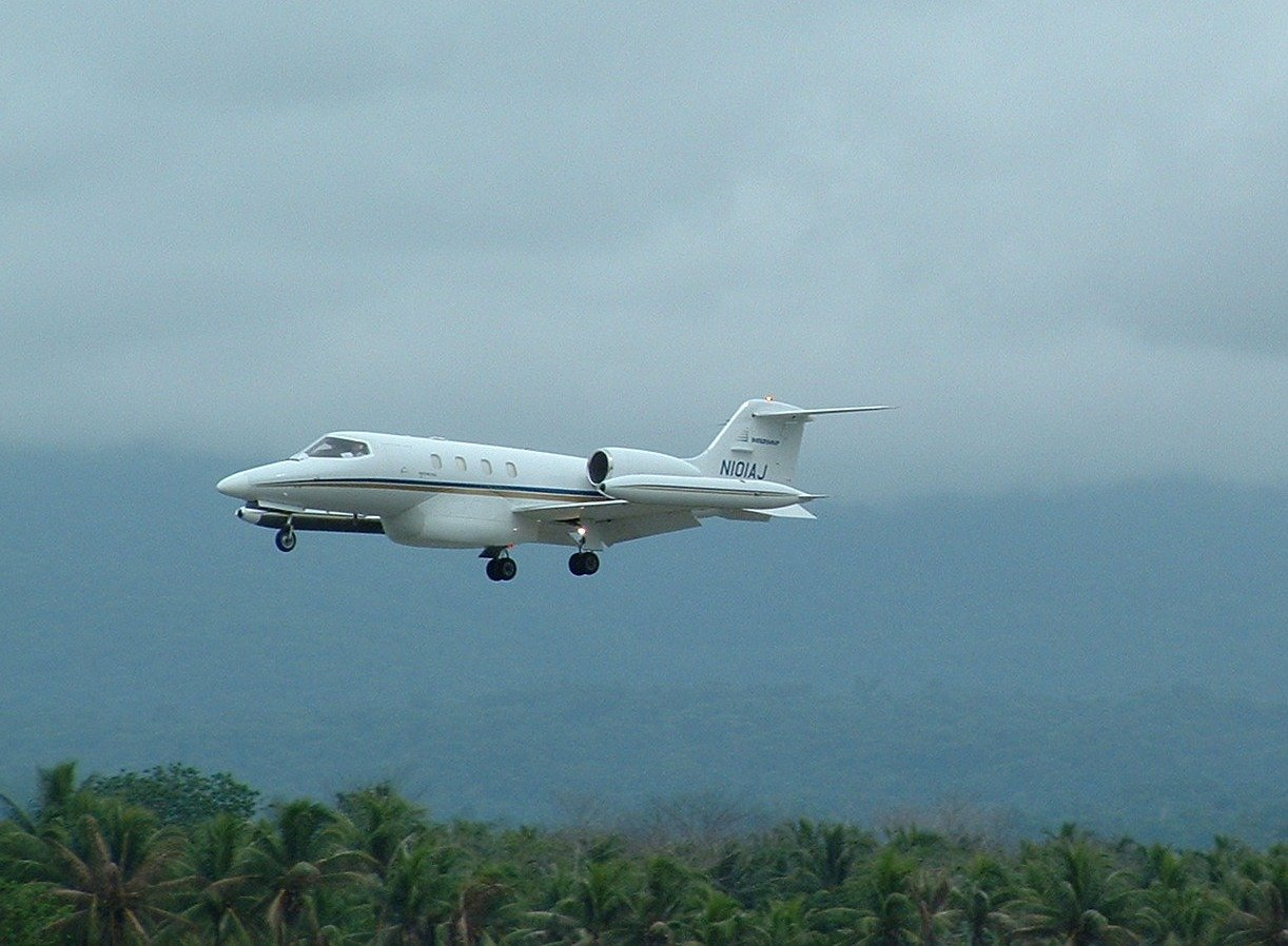 N101AJ on final in Honiara-1