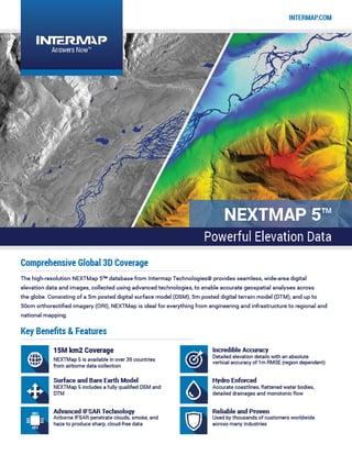 NEXTMap 5 Data Sheet
