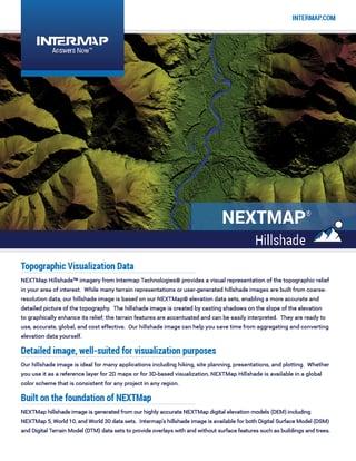 NEXTMap Hillshade Data Sheet