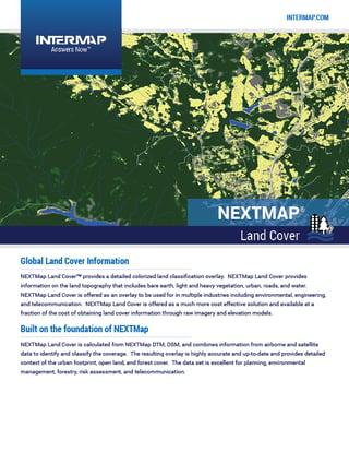 NEXTMap LandCover Data Sheet