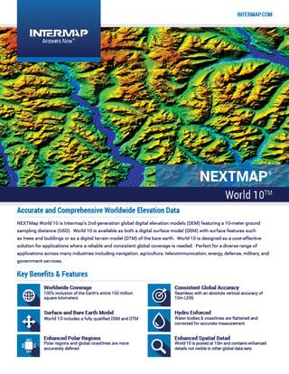 NEXTMap World10 Data Sheet