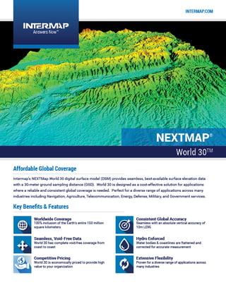 NEXTMap World30 Data Sheet