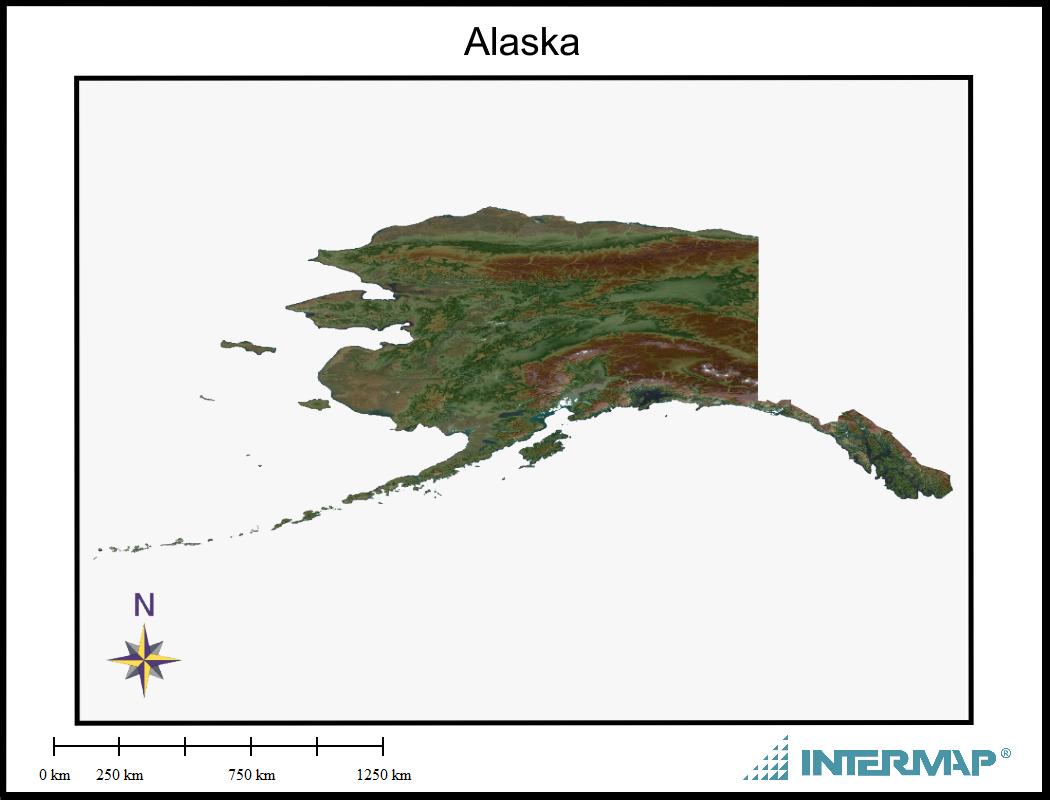 Alaska Map Frame