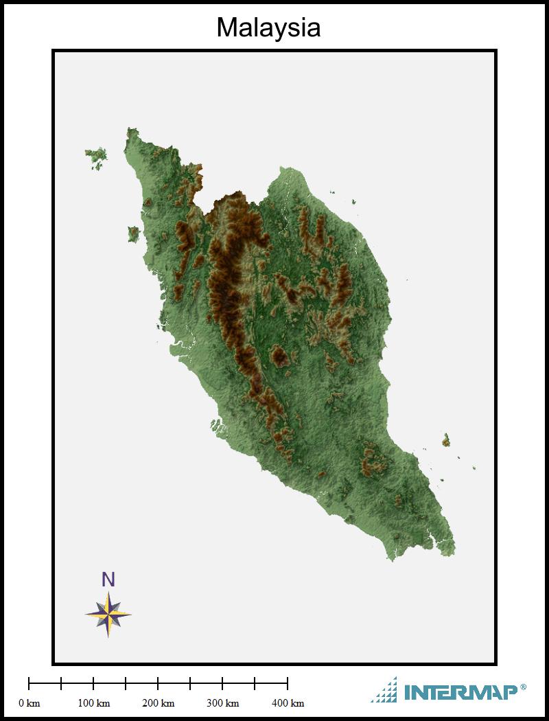 Malaysia Map Frame