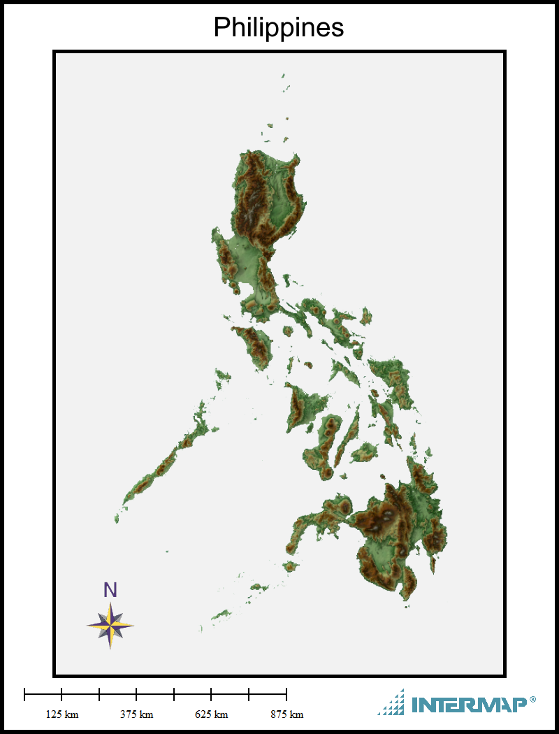 Philippines Map Frame